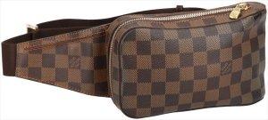 28890 Louis Vuitton Geronimos aus Damier Ebene Canvas Tasche, Handtasche, Bauchtasche