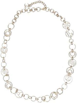 28997 Chanel CC sehr lange Halskette aus goldfarbenem Metall