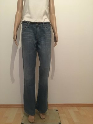 29 Flare Jeans Denim Hose hellblau midblue Seven for all mankind  made in USA Schlaghose Schlagjeans Bootcut