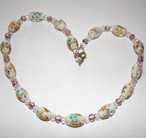 2901 Wunderschöne Glasperlenkette