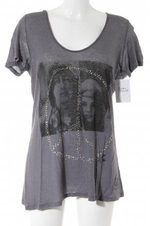 291 Venice T-Shirt grau-schwarz Motivdruck Casual-Look