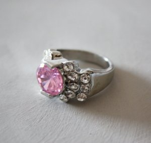 2930 - Gr.17,2/54 Strass Fingerring
