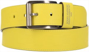 Louis Vuitton Leather Belt multicolored leather
