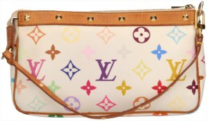29885 Louis Vuitton Pochette Accessoires Monogram Multicolore Canvas Tasche, Handtasche, Clutch
