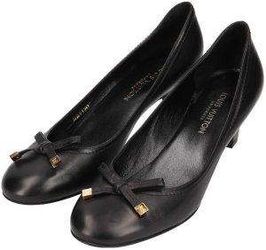 Louis Vuitton Stiletto noir-doré cuir