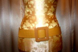 Cinturón de cadera naranja dorado