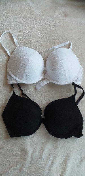 HM Bra black-white polyester