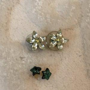 Ear stud dark green-sage green