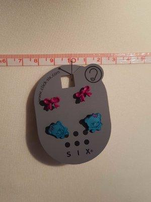 2er Pack Ohrringe Schleifen und Bären
