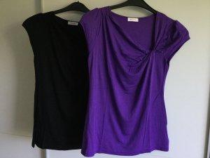 2er Pack: super bequeme Shirts mit außergewöhnlichem Ausschnitt/Dekolleté
