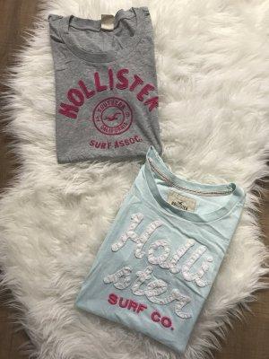 2er Set hollister Tshirt L Grau Türkis Hollister