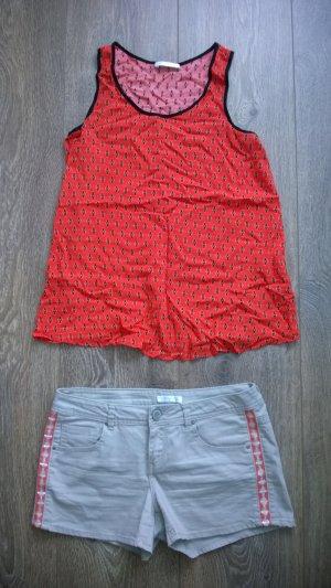 2er-Set: Hotpants mit passender Bluse