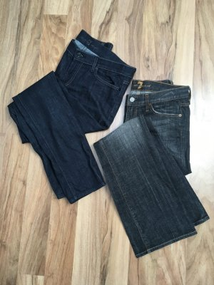 7 For All Mankind Vaquero de corte bota azul oscuro-gris antracita