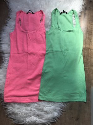 2er Set Tanktop Tom Tailor S Pink Grün Top