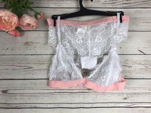 Hailys Lingerie Set white-pink