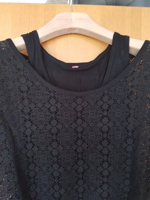 2in1 # 2lagiges Shirt# Intimissimi#Viskose & Spitze# Grösse L