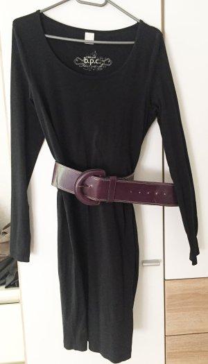 2in1 Set: Basic Kleid mit breitem Gürtel