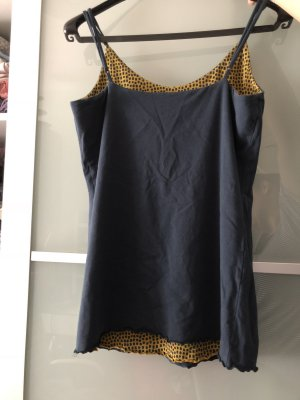 2in1 Top Deerberg blau Dots Stretch Baumwolle