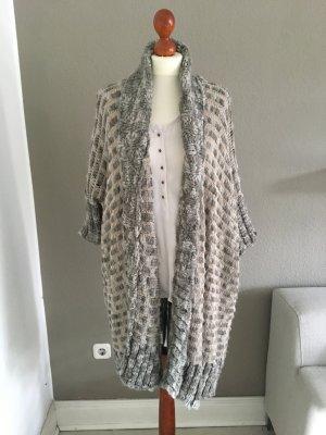2nd Day Strickjacke Mantel Oversize beige grau Scandi Style S/M