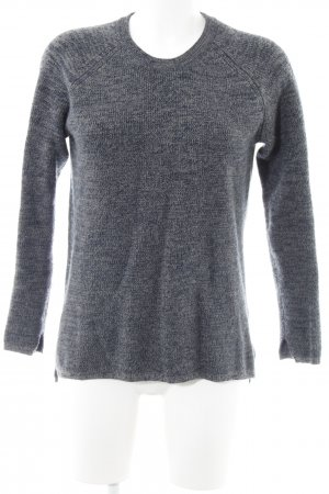 2nd Day Knitted Sweater dark grey-dark blue flecked casual look