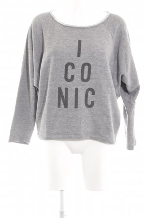 2nd Day Sweat Shirt light grey printed lettering casual look