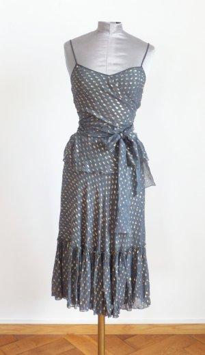 2teiler aus Seide wie ein Kleid mit Lurex Streufen