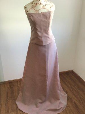 2tlg. Abendkleid corsage und A-Linien-Rock Rose Gr. 38
