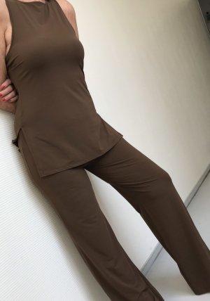M.K. Robe tunique brun foncé