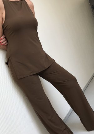 M.K. Vestido tipo túnica marrón oscuro