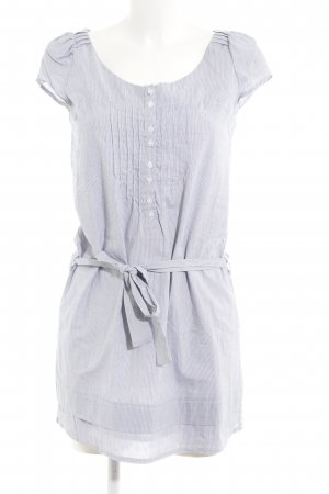 2Two Blusenkleid weiß-stahlblau Streifenmuster Casual-Look