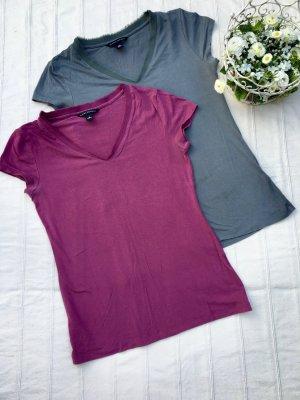 Banana Republic T-shirt violet-bleu cadet viscose