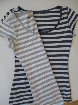 2x H&M T-Shirt angeschnittener Kurzarm