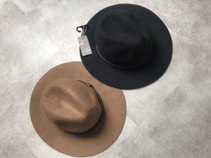 H&M Woolen Hat black-cognac-coloured