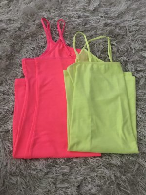 H&M Long Top neon yellow-neon pink