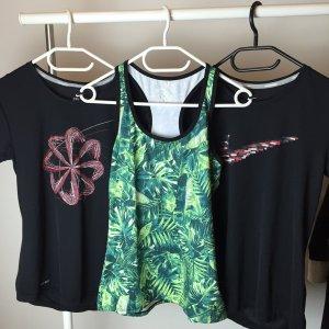 2x NIKE T-Shirt + Tank Top Sportshirt Neu S Palmen