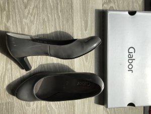 Gabor Chaussure à talons carrés noir-gris cuir