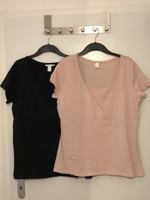 2x Still-Shirt Gr.XL Gr.44/46 Doppelpack Umstandsmode