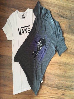 2x T-Shirt VANS weiß/grau
