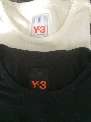2x Y-3 T-Shirts in schwarz und weiß