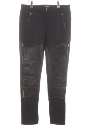 3.1 Phillip Lim High-Waist Hose schwarz Biker-Look