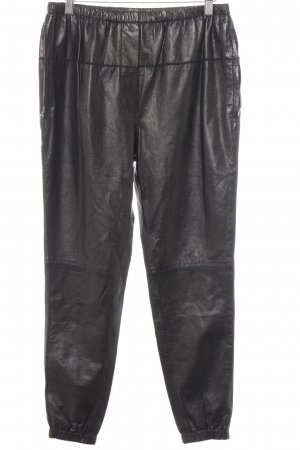 3.1 Phillip Lim Leather Trousers black biker look