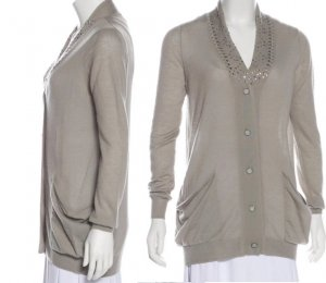 3.1 Phillip Lim Strickjacke (M) in Grau-Beige