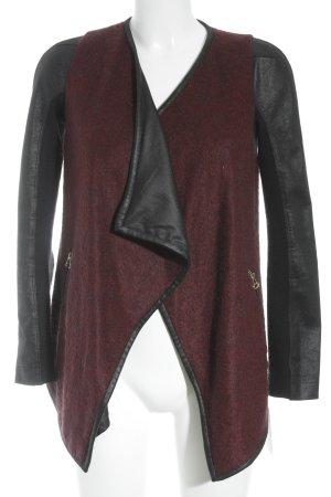 3.1 Phillip Lim Übergangsjacke schwarz-bordeauxrot Urban-Look