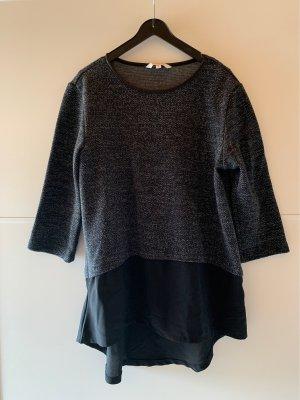 Clockhouse Sweater met korte mouwen zwart-donkergrijs