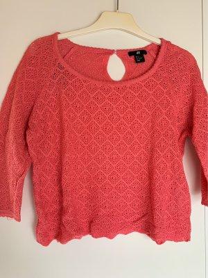 H&M Camicia maglia rosso lampone