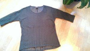 3/4 ärmliger Pullover aus Lochstrick