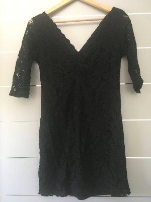 3/4 ärmliges Spitzenshirt schwarz Gr. M
