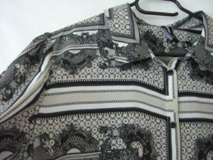 3/4 Arm Bluse gemustert