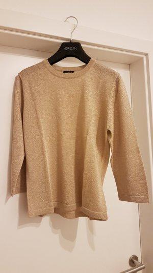 3/4-Arm Pullover  - Glitzer / goldfarben