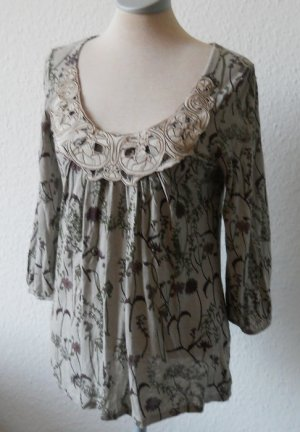 3/4 Arm retro Top Oberteil Bluse Spitze Jugendstil Gr. UK 8 36 S Next